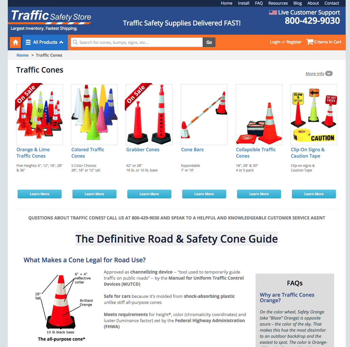 Traffic Safety Cone Store